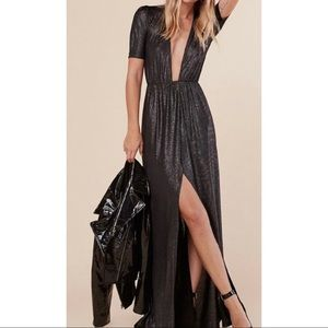 REFORMATION NWTs adeline metallic gown dress